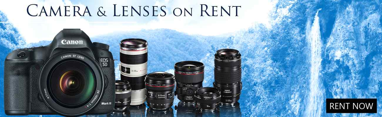 Camera and Accessories on Rent