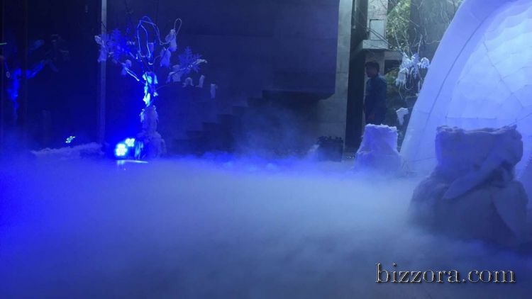 Dry Fog Painting : Dry ice fog machine on rent in ahmedabad hire